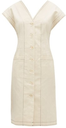 Proenza Schouler White Label Cotton-blend Button-down Midi Dress - Ivory