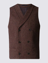 Marks And Spencer Pure Wool Tailored Fit Waistcoat With Buttonsafetm