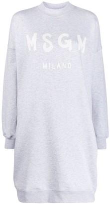 MSGM logo print sweater dress