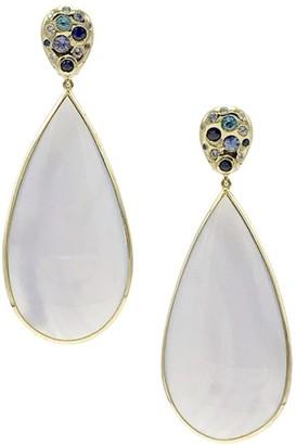Ippolita Rock Candy 18K Yellow Gold, Chalcedony & Multi-Stone Pebble Stud Drop Earrings