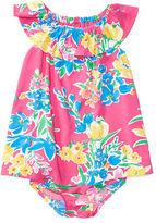 Ralph Lauren Girl Ruffled Floral Dress & Bloomer