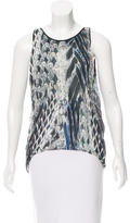 Helmut Lang Abstract Print High-Low Top