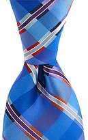 Murano Big & Tall Member Plaid Traditional Silk Tie