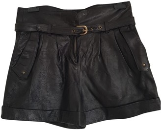 ALICE by Temperley Black Leather Shorts for Women