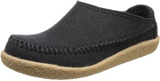 Haflinger Blizzard Credo Unisex Adult Slippers Black (Black 03) 5 UK 38 EU