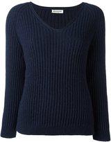 Masscob V-neck ribbed pullover