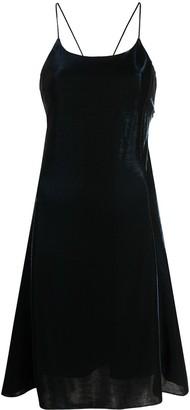 Emporio Armani Velvet Crisscross Straps Dress