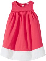Petit Bateau Twill Dress With Contrast Trim (Baby) - Pink-18 Months