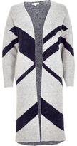 River Island Womens Grey color block cardigan