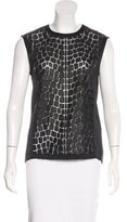 Helmut Lang Scale-Patterned Mesh Top