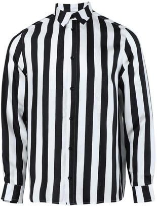 Amiri Striped Button-up Shirt Black & White
