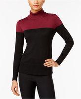 Cable & Gauge Colorblocked Turtleneck Sweater