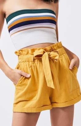 La Hearts Paperbag Waist Utility Shorts