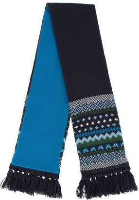 Familiar patterned tassel scarf