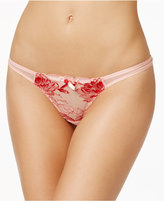 L'Agent by Agent Provocateur Dani Rose Embroidered Thong L105-31
