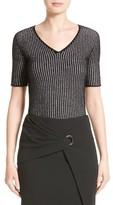 Armani Collezioni Women's Check Jacquard Sweater