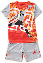 Jordan Little Boys 2T-7 Massive 23 Sublimation Printed Tee & Color Block Shorts Set