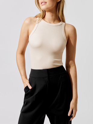 Carbon38 High Neck Ribbed Tank