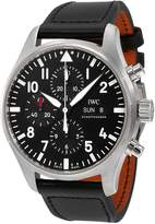 IWC Men's 43mm Leather Band Steel Case S. Sapphire Automatic Analog Watch IW377709