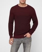 Express Plaited Color Block Crew Neck Sweater