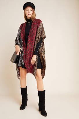Anthropologie Claudia Leopard-Printed Kimono