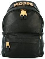Moschino logo plaque rucksack - women - Calf Leather/Leather/Nylon - One Size