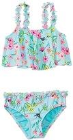 Hula Star Girls' Fairy Garden Flounce Tankini Two Piece Set (2yrs6yrs) - 8138129