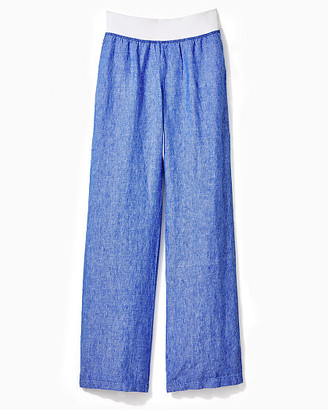 """Lilly Pulitzer 33"""" Beach Mid Rise Linen Palazzo Pant"""