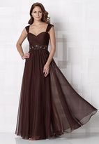 Cameron Blake by Mon Cheri - 212677 Long Dress In Dark Cocoa