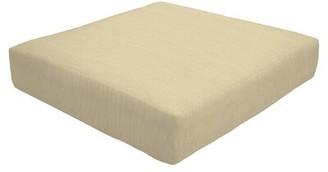 "Eddie Bauer Knife Edge Indoor/Outdoor Sunbrella Ottoman Cushion Fabric: Sand, Size: 5"" H x 24"" W x 24"" D"