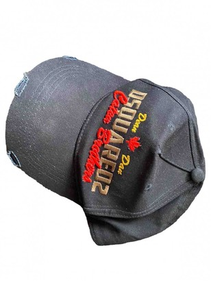 DSQUARED2 Navy Cotton Hats & pull on hats