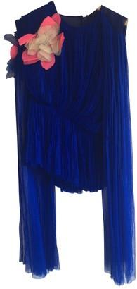 DELPOZO Blue Silk Top for Women