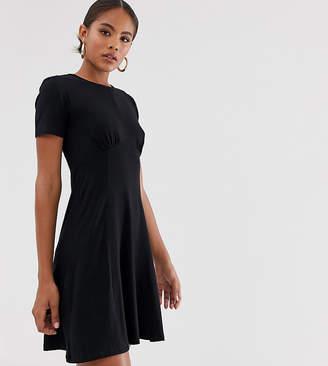 Asos Tall DESIGN Tall ultimate mini tea dress-Black