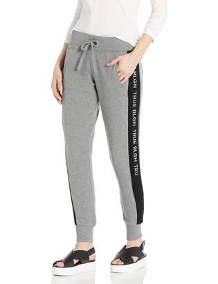 True Religion Women's Contrast Branded Skinny fit Jogger Sweat Pant