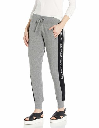 True Religion Women's Contrast Skinny fit Jogger Sweat Pant