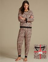 Marks and Spencer Animal Print Long Sleeve Pyjamas with StayNEWTM