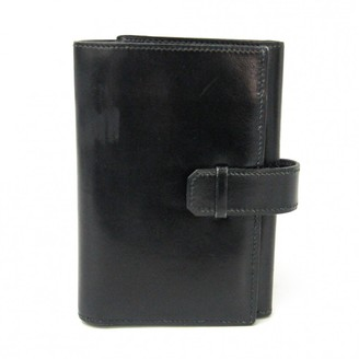 Hermes Black Leather Wallets