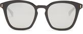 Gucci Square-frame mirrored acetate sunglasses
