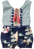 LUNIWEI Baby Girl Summer Sleeveless Romper Jumpsuit Floral Outfits