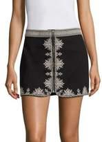 Joie Genovefa Embroidered Mini Skirt