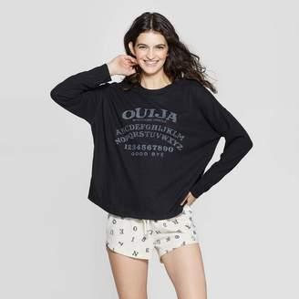 """Hasbro Women's Cozy """"Ouija"""" Pajama Set - Mighty Fine Black"""
