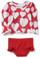 Gap Love rashguard swim two-piece
