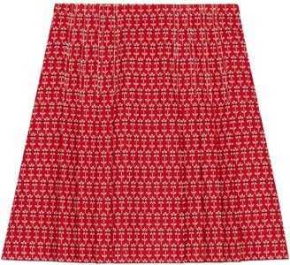 Gucci Daisy jacquard mini skirt