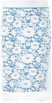 Paco Rabanne lace pencil skirt - women - Nylon/Polyamide/Polyester/Viscose - 36