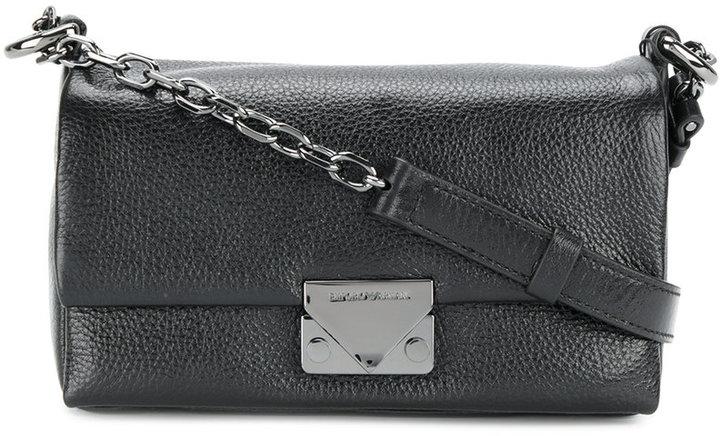Emporio Armani rectangular flap shoulder bag