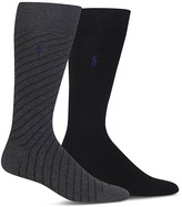 Polo Ralph Lauren Stripe & Solid Dress Socks - Pack of 2