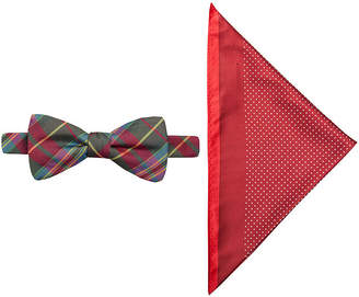 Jf J.Ferrar JF Charleston Tartan Pre-Tied Bow Tie & Pocket Square Set