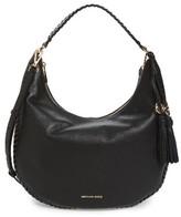 MICHAEL Michael Kors Large Lauryn Leather Hobo - Black