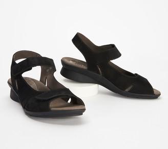 Mephisto Nubuck Leather Adjustable Sandals - Perry