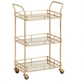 World Market Gold Cole 3-Tier Rolling Bar Cart